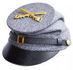 Confederate Plain Grey Forage Cap With McDowell Peak & Badge Of Choice